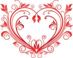 Buy Valentine Heart by VectorTradition on GraphicRiver. Red valentine heart in floral style for design. Editable (you can use any vector program) and JPEG (can edit in . Red Valentine, Happy Valentines Day Card, Valentine Gifts, Free Clipart Images, Royalty Free Clipart, Heart Decorations, Valentine Decorations, Heart Vector, Heart Graphics