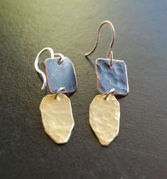 Modern Jewelry ~ Handcrafted Silver, Gold, Mixed Metals by delisadesigns Mixed Metals, Modern Jewelry, Handcrafted Jewelry, Jewelry Crafts, Dangle Earrings, Dangles, Jewelry Design, Bronze, Brass