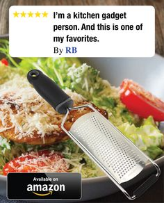 I'm a kitchen gadget person. And this is one of my favorites. I use a lot of hard cheeses and also citrus peelings for zest. I would never be without this great kitchen tool.  Click image to order!