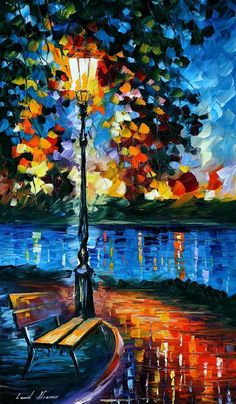 Charm of Loneliness — PALETTE KNIFE Oil Painting On Canvas By Leonid Afremov #AfremovArtStudio #afremov #art #painting