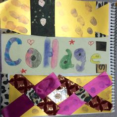 Collage page by one of my art journaling students at the Ontario school.  :]