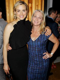 Orange Is the New Black's Taylor Schilling poses alongside Piper Kerman, who inspired Schilling's on-screen character, at the show's season 4 premiere afterparty in N.Y.C. on Thursday.