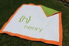 sweet idea for a baby quilt
