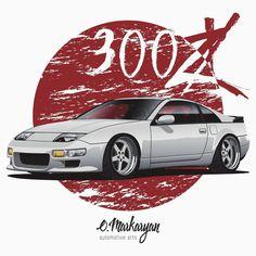 Nissan 300ZX (white / silver)