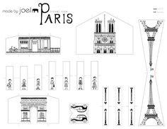Fun for a city unit! Made by Joel Travel Size Paper City Paris Template Paris Party, Paris Theme, Mini Paris, Printable Designs, Printables, Paris Monuments, Diorama, Paris Crafts, Image Paris