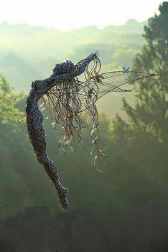Wire fantasy sculpture