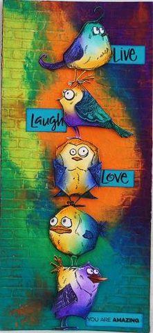 Crazy Bird Mixed Media Wall Art Class!!!