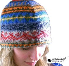 Fall/winter hat made from a recycled sweater. I would never have thought of that!