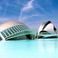 La Ciudad de las Artes y las Ciencias. Valencia, Spain.