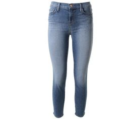 J BRAND Mid Rise Capri skinny jeans ($232) ❤ liked on Polyvore featuring jeans, pants, unique, blue capris, j brand, j-brand skinny jeans, mid rise skinny jeans and zipper jeans