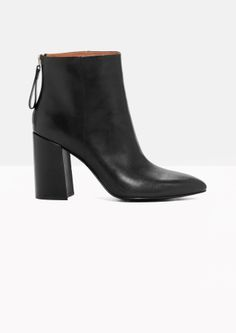 & Other Stories | Flared Heel Leather Boots