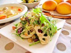 今日は和風洋風?蓮根とお豆のデリ風サラダの画像