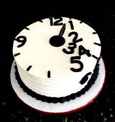 Time Clock themed Retirement Cake