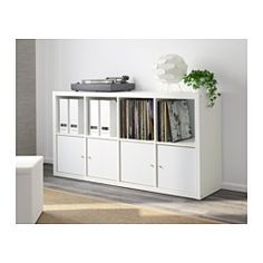 IKEA - KALLAX, Shelving unit, white, , Choose whether you want to place it vertically or horizontally to use it as a shelf or sideboard.