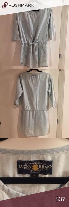 🌙✨Lucky Brand Jean T-Shirt Dress💫🌜 Light wash T-Shirt Dress, Small, NEW Lucky Brand Dresses Midi