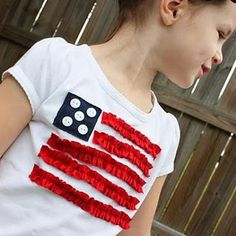 4th t-shirt  I know some little girls that would look sew cute in these