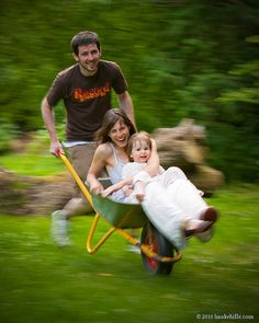 Family Portrait: The Wheelbarrow Race by H. Hille, via Flickr - This is excellent