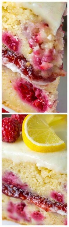 Lemon Raspberry Cake ~ Ultra moist and flavorful