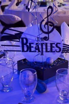 fiesta tematica Beatles, centro de mesa
