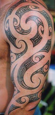 polynesian lower back tattoos