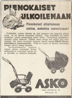 Pienokaiset ulkoilemaan - Askon vanha lehtimainos vuodelta 1939