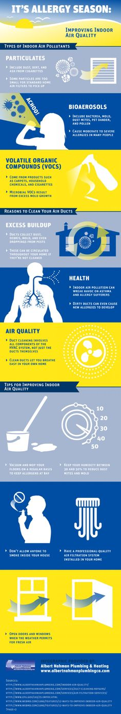 It's Allergy Season: Improving Indoor Air Quality #Allergy #Health #infographic