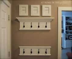 DIY Shelf made with crown molding tutorial