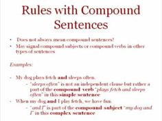 ENG 1001: Sentences: Simple, Compound, and Complex