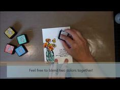Unity Stamp Co Quick Tip - Direct Application Distress Ink Watercolor