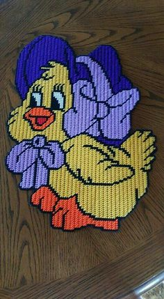 EASTER HEN WITH BONNET by NORA B. -- WALL HANGING 1/2