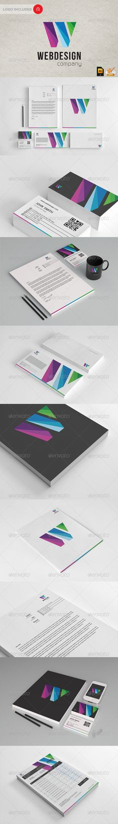 Wen Design - Modern Stationary + Invoice - GraphicRiver Item for Sale