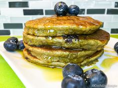 Cinfully Simple :: Blueberry Avocado Paleo Pancakes gluten free, vegetarian