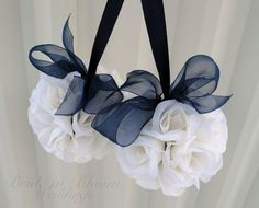 ♥ Navy Blue Wedding Bells ♥ par sweetbabyn sur Etsy