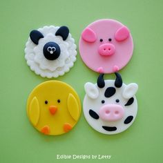 12 Edible Fondant Cupcake Toppers  by EdibleDesignsByLetty on Etsy, $17.95