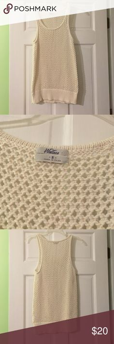 Madewell Crochet Tank Cream colored crochet tank from Madewell. This is a great layering piece over button ups and long sleeve shirts. Size small, worn once. The condition is great, there are no pulls in the crochet! Madewell Tops Blouses