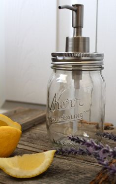 Grace your home and bless your hands from a Mason Jar Soap Dispenser!
