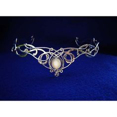 SilverMoon Bridal Circlet (Crown) ($350) ❤ liked on Polyvore featuring accessories, hair accessories, crowns, jewelry, tiara, circlet, bride tiara, bridal hair accessories, tiara crown and celtic hair accessories