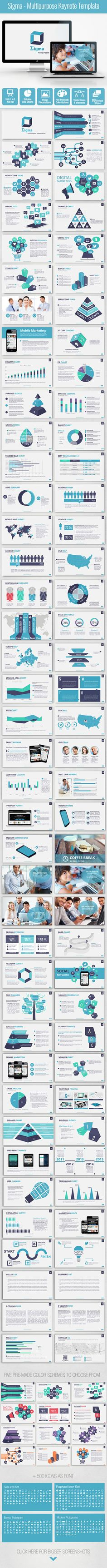 Sigma - Multipurpose Keynote Template #design Download: http://graphicriver.net/item/sigma-multipurpose-keynote-template/13066948?ref=ksioks