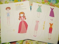 lace up paper dolls.  I think you do do these as fold overs too.