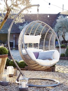 Indoor Outdoor Hanging Chair - Luxury Chairs - Luxury Seating - Luxury Home Furniture