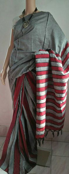 Pure cotton handloom khes Saree with BP