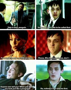 Oswald Cobblepot (The Penguin) | Gotham | I am terrified of him and feel terrible for him simultaneously.