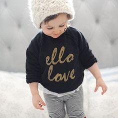 Ello Love Black Sweatshirt!