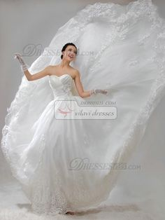 High Couture Ball Gown Taffeta Sweetheart Strapless Lace-up Lace Flower Beading #Wedding #Dresses #online  $157.79