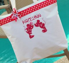 Personalized Disney x large tote bag minnie mickey mouse