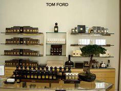 Tom Ford perfume counter  Looks like the counter at Neimans in San Fran