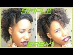 Simple and Easy Braid Out Tutorial / Short Natural Hair / - YouTube