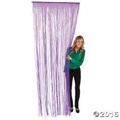 Purple Fringe Door Curtain - OrientalTrading.com