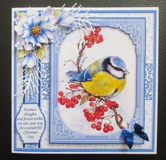BLUE CHRISTMAS 7.8 Quick Layer Cards or Decoupage Bumper Kit - CUP893730_68 | Craftsuprint