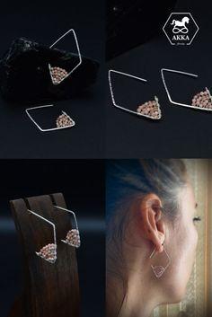 Pink Earrings, Simple Earrings, Beaded Earrings, Red Gemstones, Natural Gemstones, Hand Shapes, Losing A Pet, Pink Stone, Minimalist Earrings